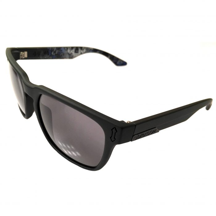 Dragon Alliance Monarch Asymbol Sunglasses - Matte Black Schoph Art - Gray Lens