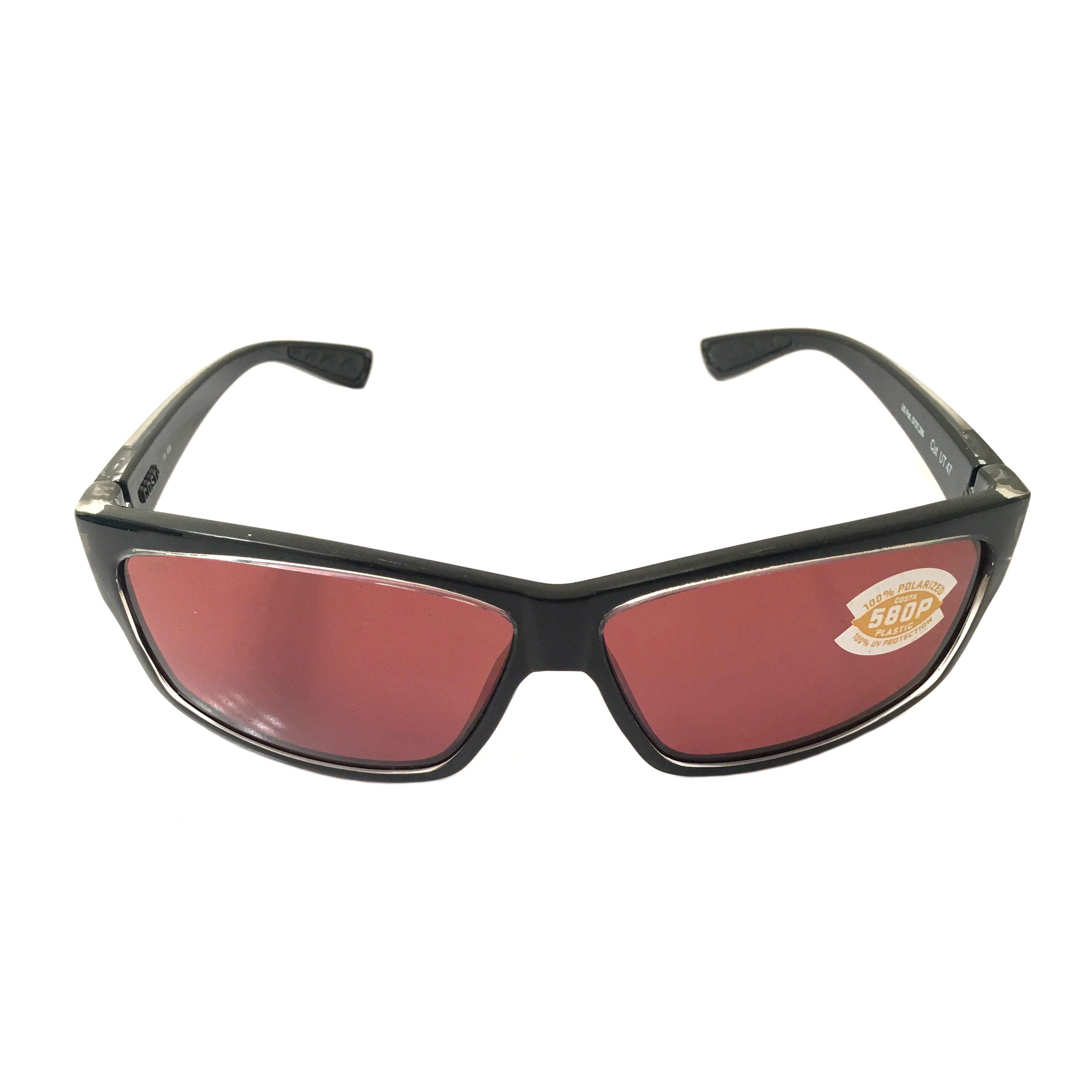 Costa Del Mar Cut Sunglasses Black Clear Squall Frame