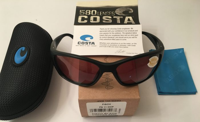 Costa Del Mar Fisch Sunglasses - Matte Black Frame - POLARIZED Copper 580P Lens