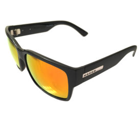 Hoven Vision Mosteez Sunglasses - ANSI Compliant - Matte Black Frame - Fire Chrome Lens