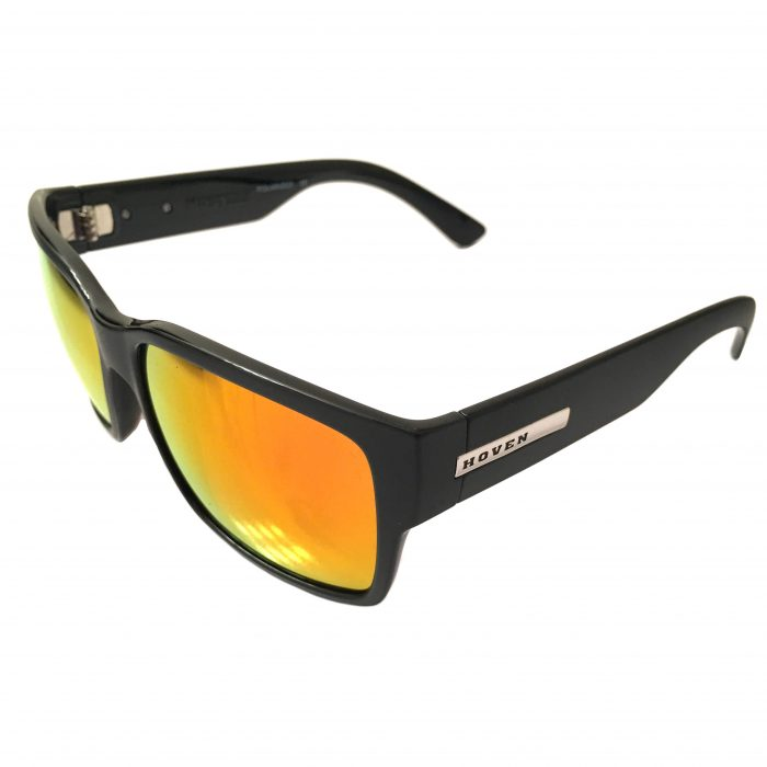 Hoven Vision Mosteez Sunglasses ANSI Matte Black POLARIZED Fire Chrome