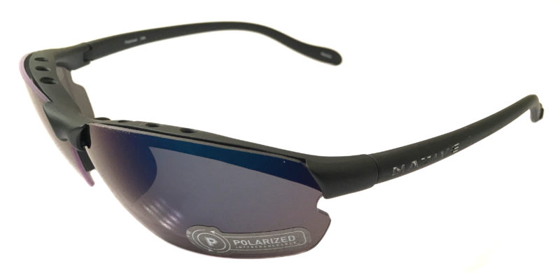Native Eyewear Dash XP Sunglasses XTRA Lens Matte Black POLARIZED Blue Reflex