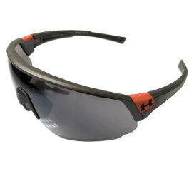 Under Armour Changeup Sunglasses UA - Satin Carbon Frame - Silver Mirror Lens