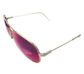 Electric Visual AV1 XL Aviator Sunglasses - Platinum OHM - Plasma Chrome