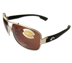 Costa Del Mar Cocos Aviator Sunglasses - Palladium Polarized - Copper 580P