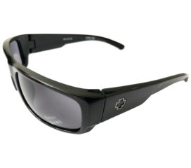 Spy Optic Caliber Wrap Sunglasses - Shiny Black 8-Base Frame - Gray Lens