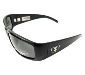 Hoven Vision The One Sunglasses ANSI Compliant Gloss Black Frame - Polarized Grey Lens