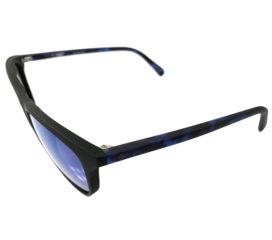 Spy Cameo Sunglasses- Matte Black Navy Tortoise - Blue Spec Happy Lens