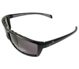 Native Eyewear Sidecar Sunglasses - Gloss Black Frame - Polarized Gray Lenses