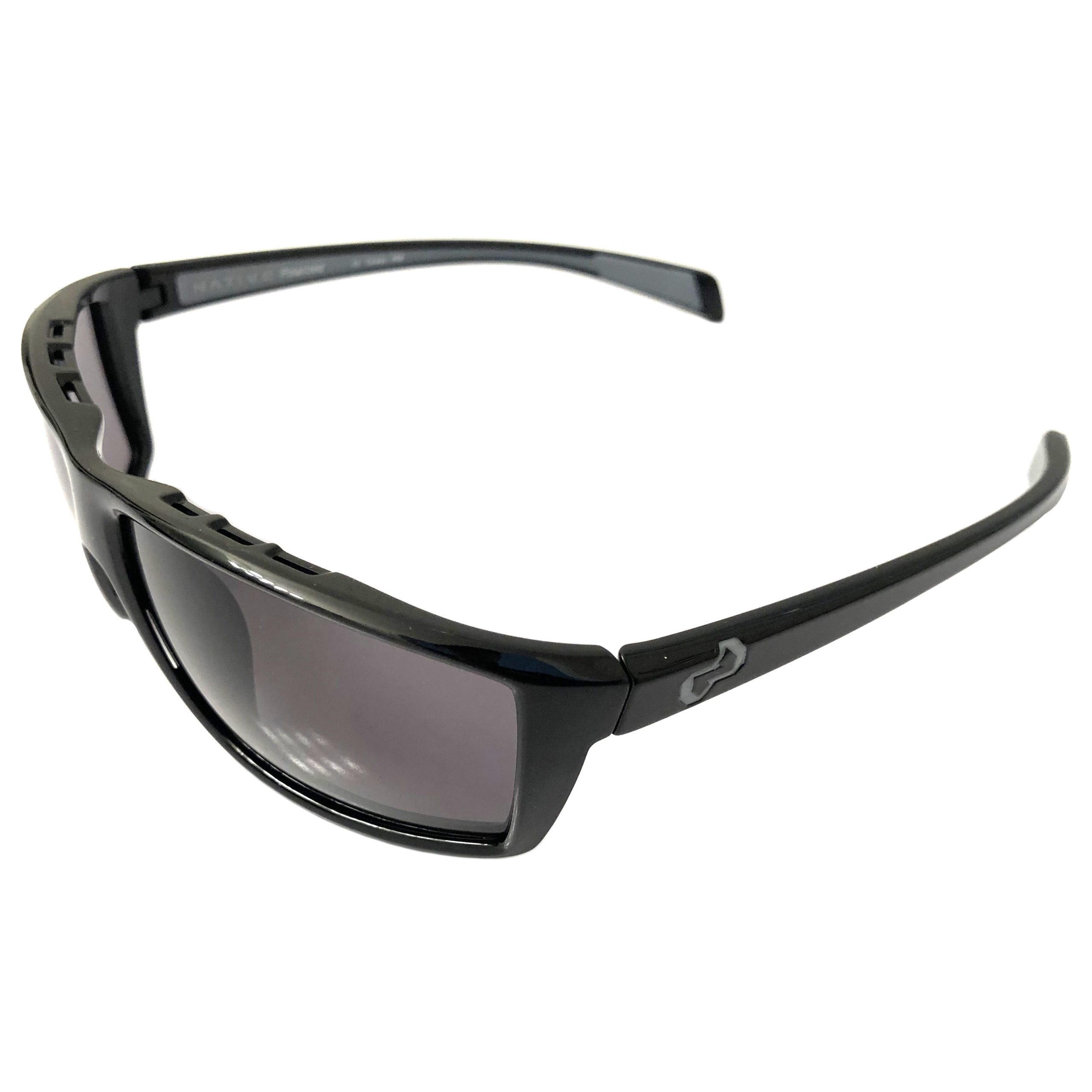 Native Eyewear Sidecar Sunglasses - Gloss Black - POLARIZED Gray