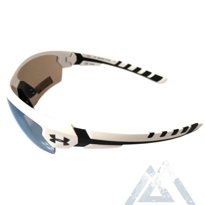 Under Armour Rival Sunglasses UA - Satin White & Black - Baseball Tuned