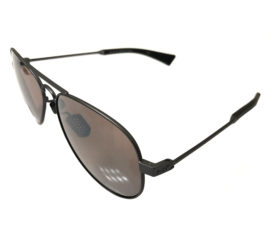 Under Armour Getaway Sunglasses - UA Satin Gunmetal Aviator Frame - Road Tuned Lens