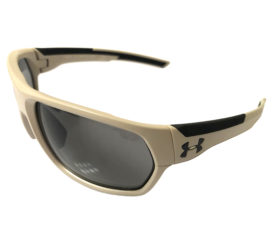 Under Armour Shock Sunglasses UA - Matte Sand - ANSI Z87+ Compliant Gray Lens