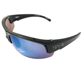 Spy Sprinter Sunglasses - ANSI Z87.1 / Z87.2+  Black Frame - Polarized Dark Blue