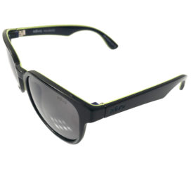 Revo Kash Sunglasses - Black and Green Frame - Polarized Graphite Lenses