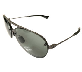 Under Armour Double Down Aviator Sunglasses - Satin Gunmetal Frame - Gray Lens