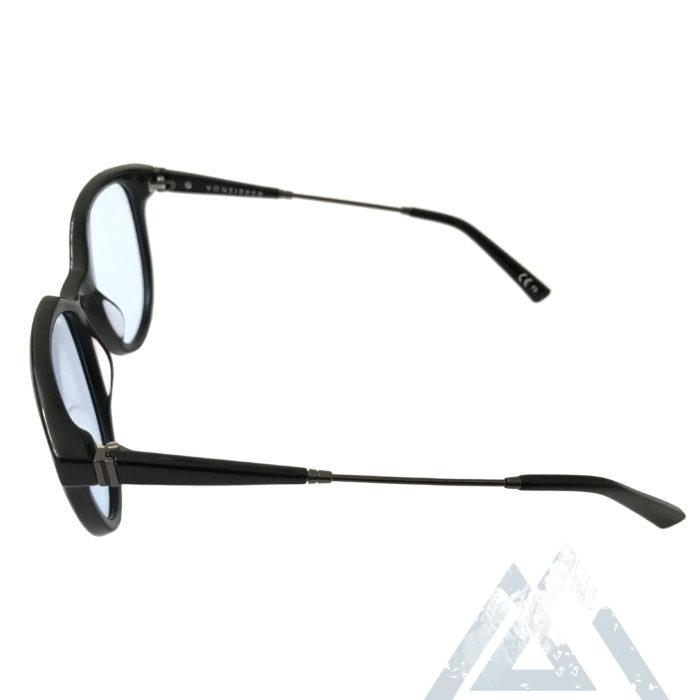 VonZipper Hyde Sunglasses - Gloss Black Gunmetal - Lt. Blue w/ Clip-On