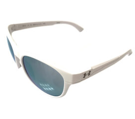 Under Armour Glimpse RL Sunglasses UA - Satin White Frame - Purple Mirror Lenses