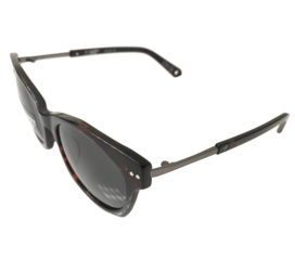 Spy Optic Mulholland Sunglasses - Dark Tortoise and Stainless Frame - Happy Lens Grey Green