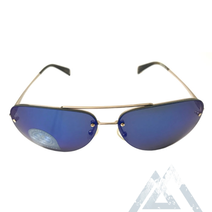 Kaenon Mather Aviator Sunglasses - Gold w/ Tortoise - POLARIZED Blue Lens