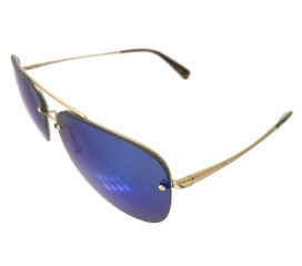 Kaenon Mather Aviator Sunglasses - Gold and Tortoise Frame - Polarized Blue Lenses