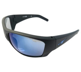 Arnette Heist 2.0 Sunglasses - Matte Black - Blue Mirror AN4215-05