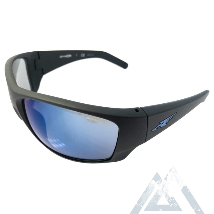 Arnette Heist 2.0 Sunglasses - Matte Black - Blue Mirror AN4215-05