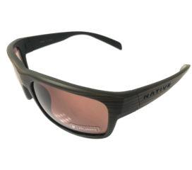 Native Eyewear Ashdown Sunglasses - Wood Grain Frame - Polarized N3 Brown Lens