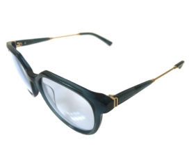 VonZipper Hyde Sunglasses - Navy w/ Gold Frame - Clear w/ Aviator Clip-On Grey Lenses
