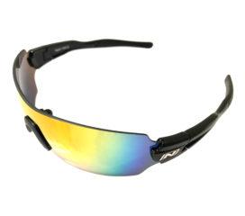 Optic Nerve Vapor Cycling Sunglasses - Shiny Black Frame - Smoke Red Mirror