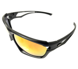 Optic Nerve Variant Sunglasses - Shiny Carbon - Smoke Red Mirror + Extra Interchangeable Lenses