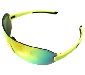 Optic Nerve Overcast Flip Off Sunglasses - Matte Aluminum Green - Smoke Red Mirror