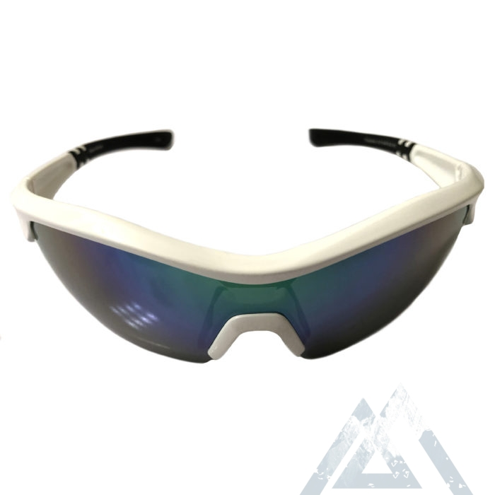 Optic Nerve Thujone 3.0 Sunglasses - Shiny White w/ Black - Green Mirror XTRA Lens