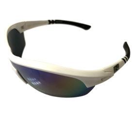 Optic Nerve Thujone 3.0 Sunglasses - Shiny White w/ Black - Green Mirror + 2 Extra Lenses