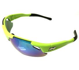 Optic Nerve Neurotoxin 3.0 Sunglasses - Shiny Green Frame - Smoke Green Mirror + Xtra Lenses