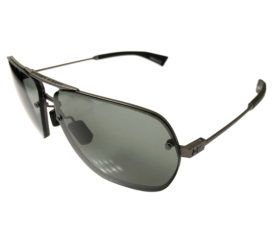 Under Armour Hi Roll Sunglasses UA - Satin Gunmetal Aviator Frame - Gray Lens