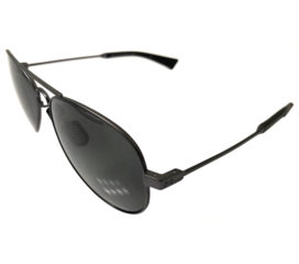 Under Armour Getaway Sunglasses UA - Black Storm Frame - POLARIZED Gray Lens