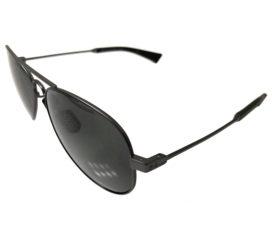 Under Armour Getaway Sunglasses UA - Black Storm Frame - POLARIZED Gray Lens