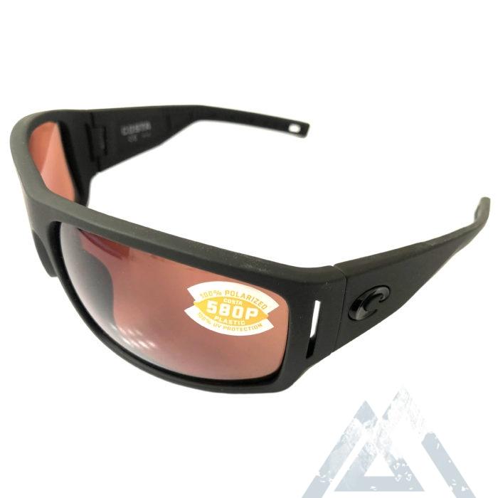 Costa Del Mar Cape Sunglasses - Matte Black POLARIZED Ultra Copper 580P