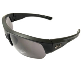 Under Armour Big Shot Sunglasses UA - Satin Black Sport Wrap Frame - Gray Lens