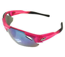 Optic Nerve Neurotoxin 3.0 Sunglasses - Shiny Crystal Pink - Smoke Green Mirror