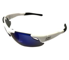 Optic Nerve Neurotoxin 3.0 Sunglasses - Shiny White - Smoke Blue Mirror - Extra Lens Sets