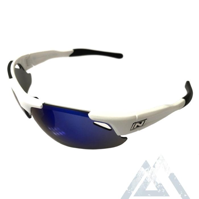 Optic Nerve Neurotoxin 3.0 Sunglasses - Shiny White - Smoke Blue Mirror XTRA Lens