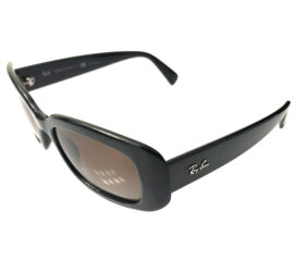 Women's Ray-Ban Sunglasses - Vintage Gloss Black - Polarized Brown Gradient RB4122 601/T5