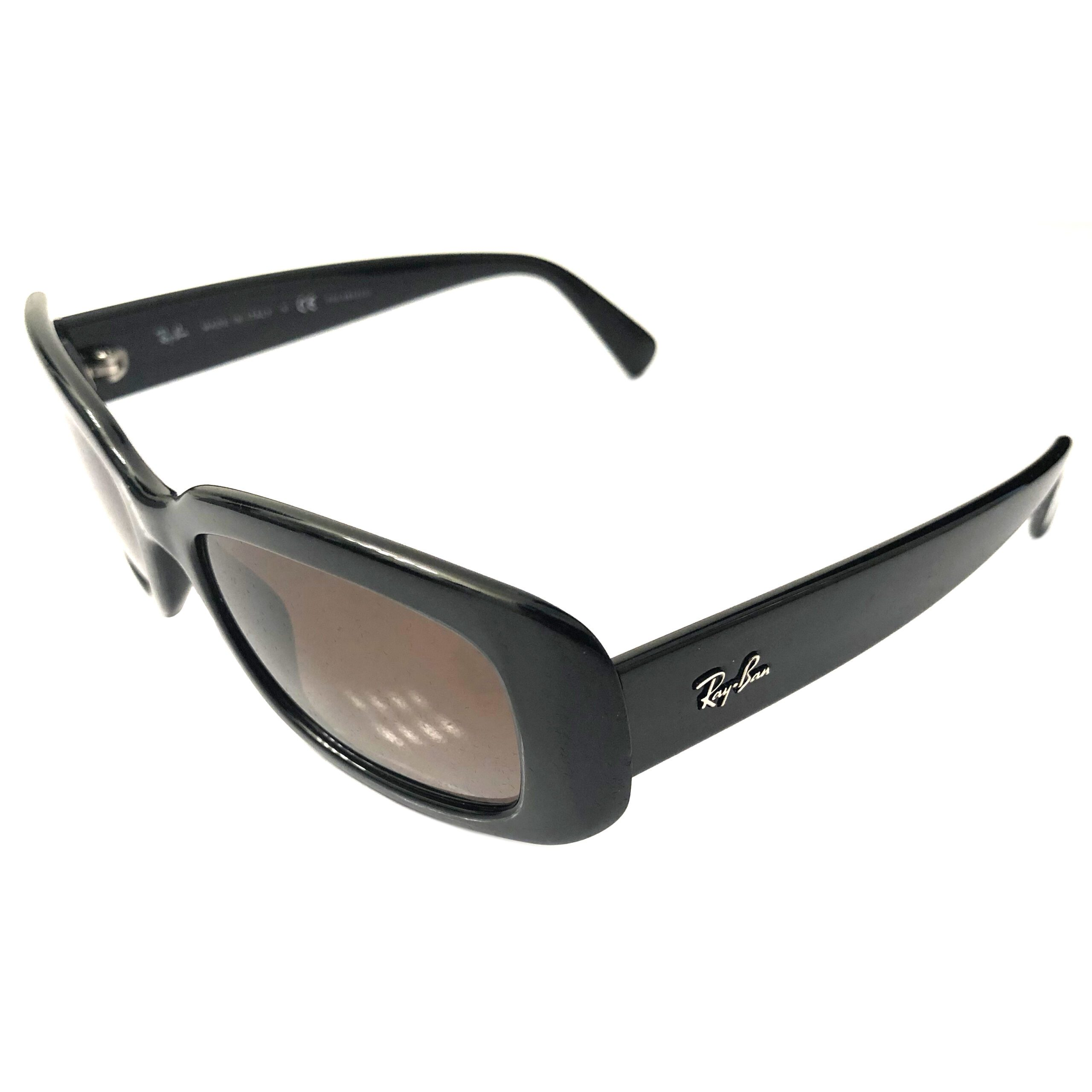 Ray-Ban Sunglasses - Gloss Black POLARIZED Brown Gradient RB4122 601/T5