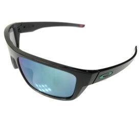 Oakley Drop Point Sunglasses - Black Ink Sport Wrap Frame - Jade Iridium Lens OO9367-0460
