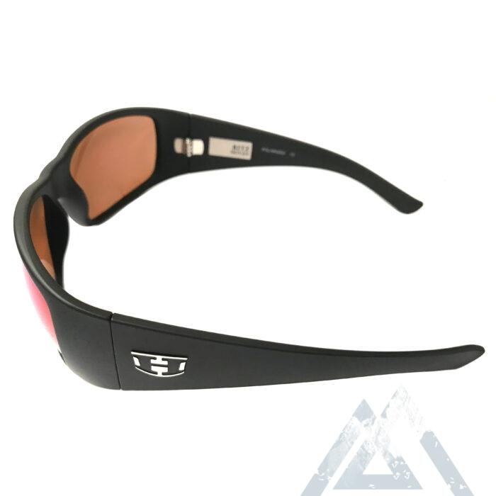 Hoven Vision Ritz Sunglasses - Matte Black - ANSI POLARIZED Green Chrome
