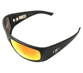 Hoven Vision Ritz Sunglasses - Matte Black Frame - ANSI Polarized Fire Chrome Lens