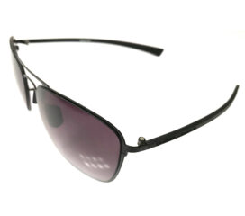 Under Armour Alloy CV Sunglasses UA - Matte Black Aviator Frame - Gray Lens