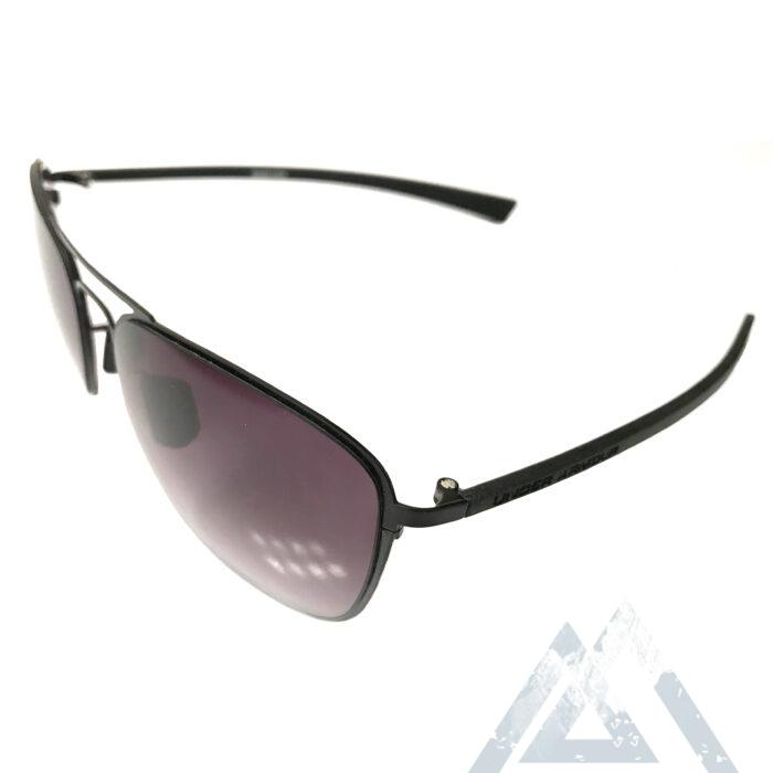 Under Armour Alloy CV Sunglasses UA - Matte Black Aviator Frame - Gray Lens